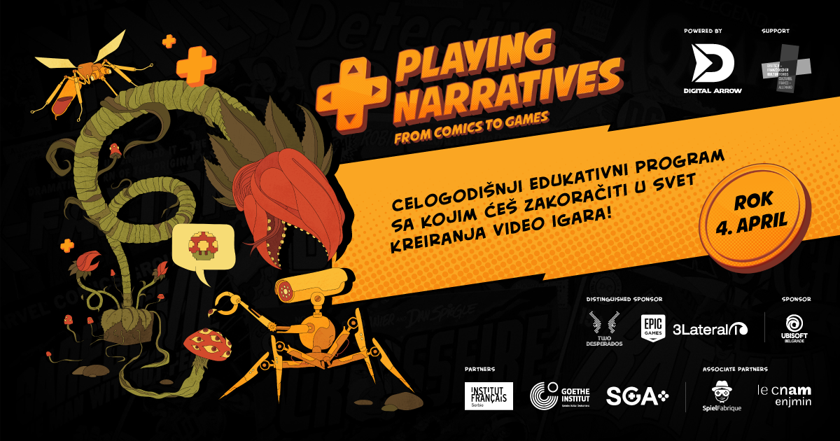 Playing Narratives: zakorači u svet kreiranja video igara kroz celogodišnji edukativni program
